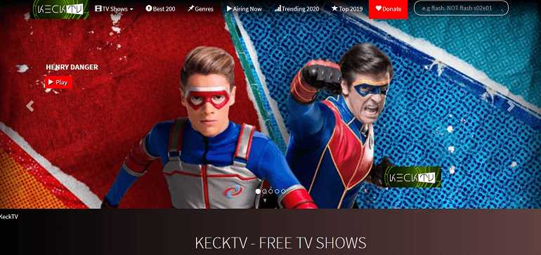 KeckTV website