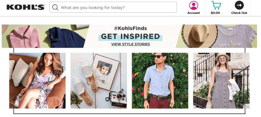 Kohl's website