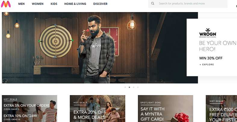 Myntra website