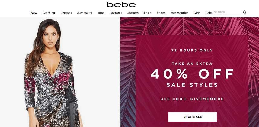 Bebe website