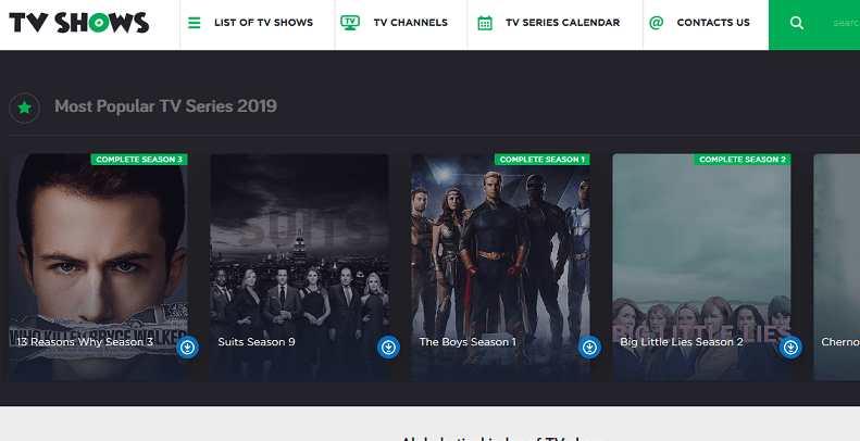 TV Shows website
