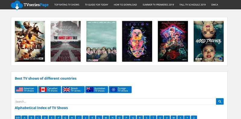 TVseriesPage website