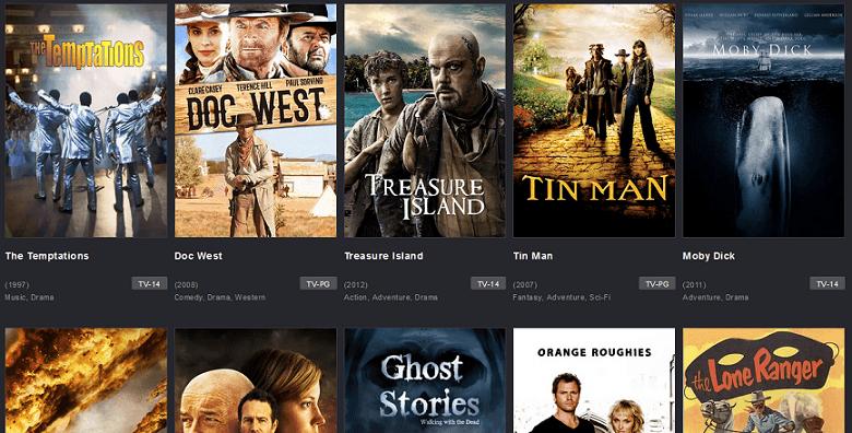 TubiTV website interface
