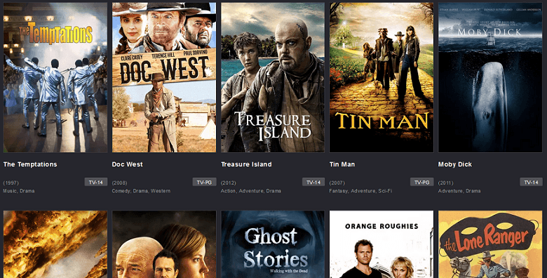 TubiTV website interface