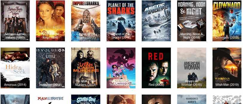 Vumoo website interface for watching movies