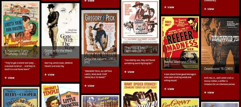 Classic Cinema Online website
