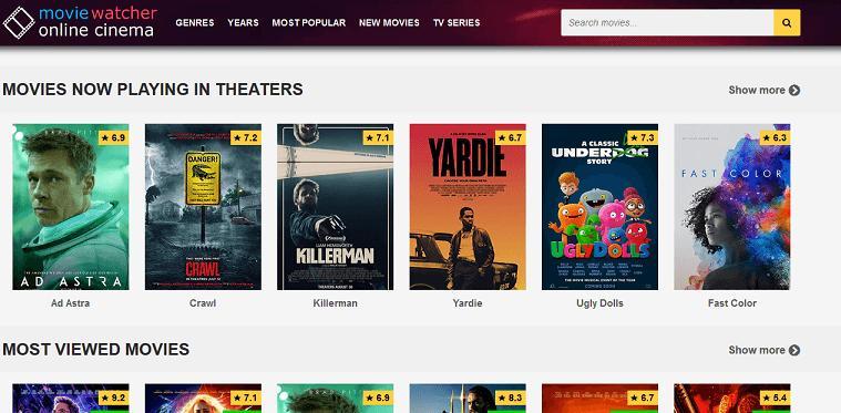 Movie Watcher website
