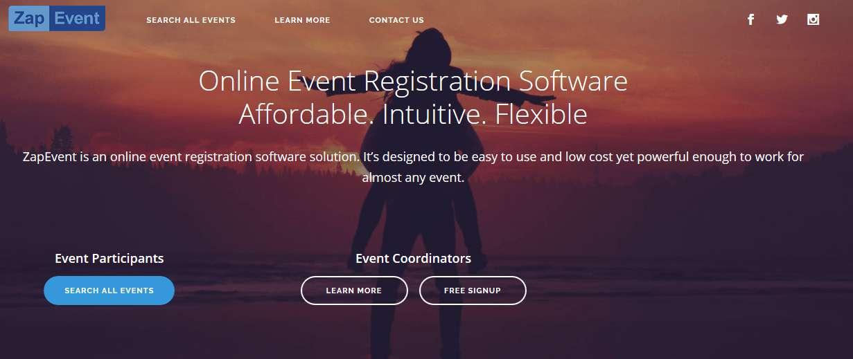 ZapEvent website