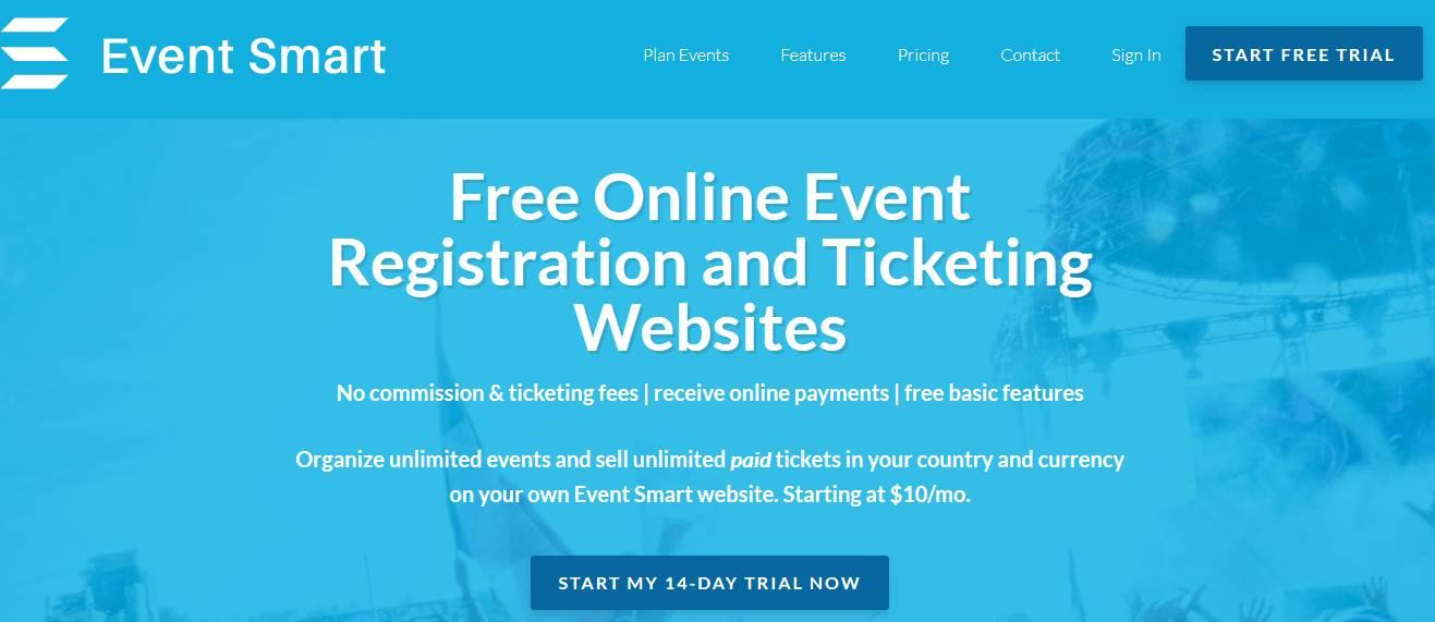 Event Smart website