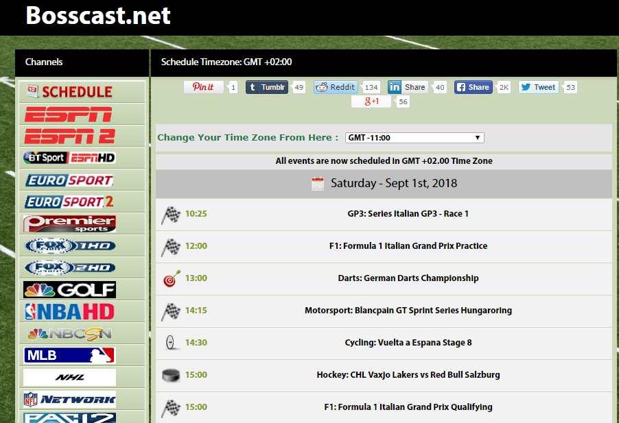 Bosscast website