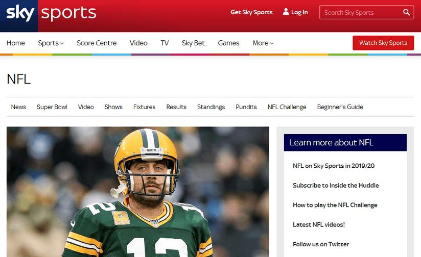 Sky Sports website