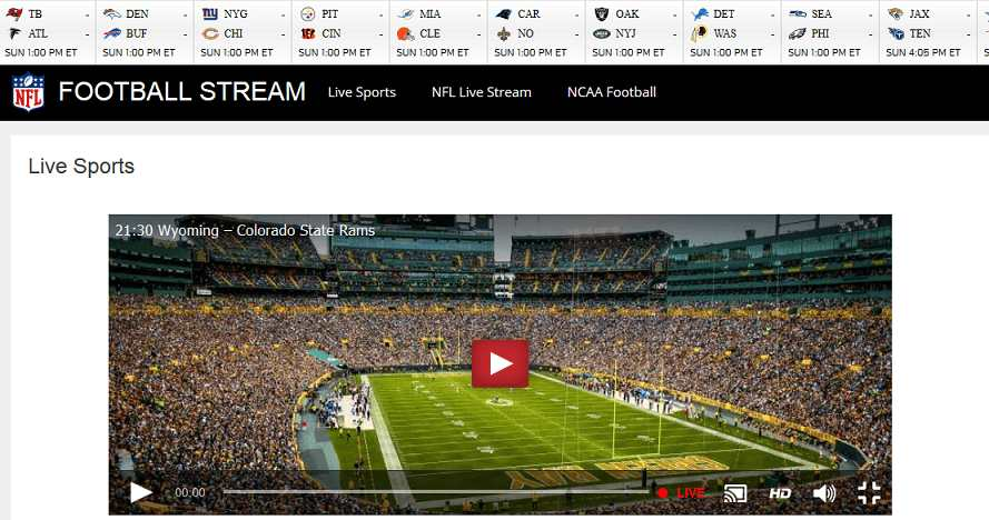 Football Stream website