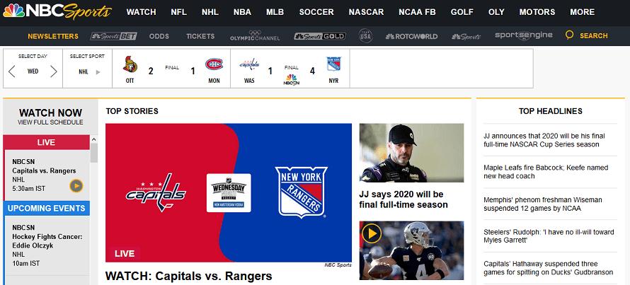 NBC Sports website