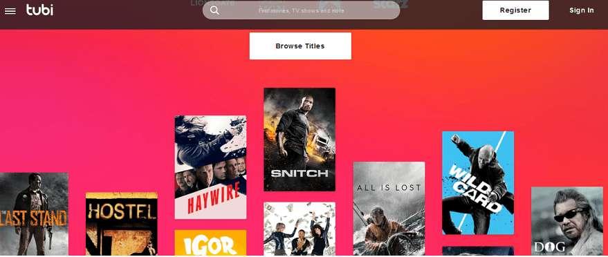 Tubi TV website