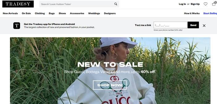 Tradesy website