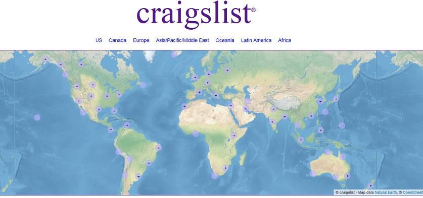 Craigslist website