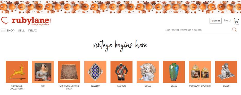 Ruby Lane website
