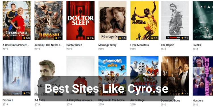 Top 8 Websites Like Cyro.se Movies