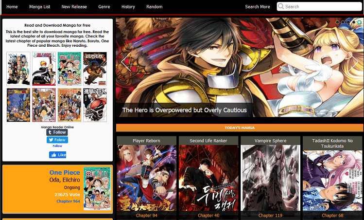 Manga Freak website