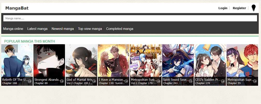 MangaBat website