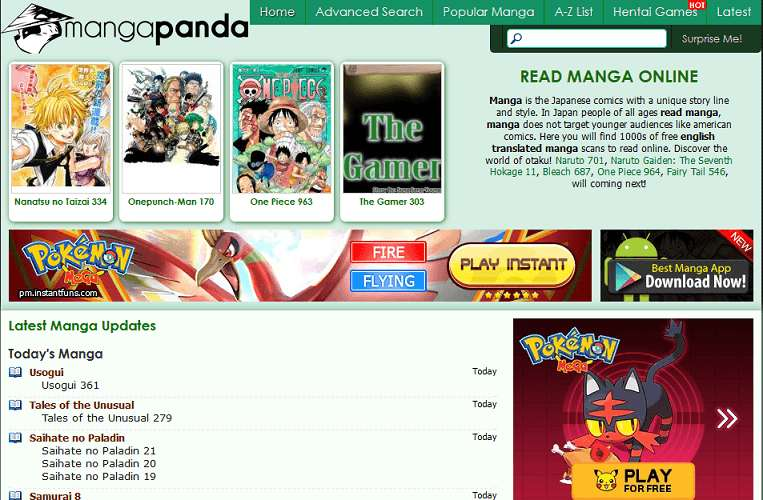 Manga Panda website
