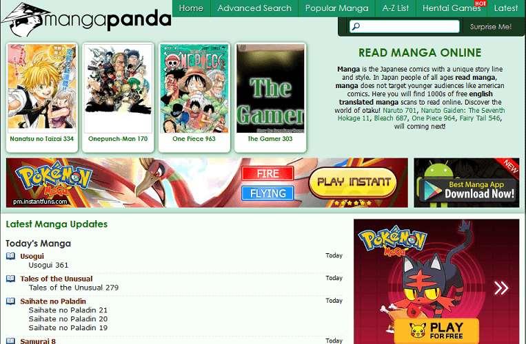 Manga Panda website