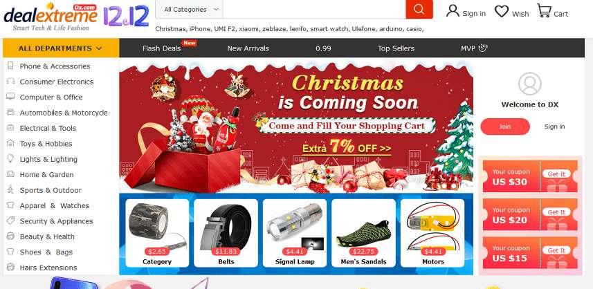 DealExtream website