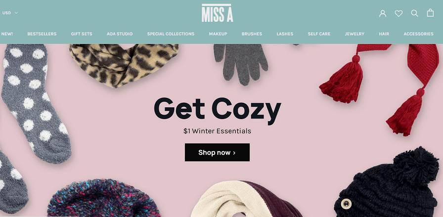 Miss A website
