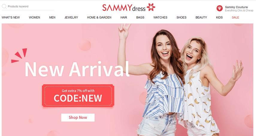 SammyDress website