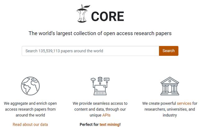 CORE website