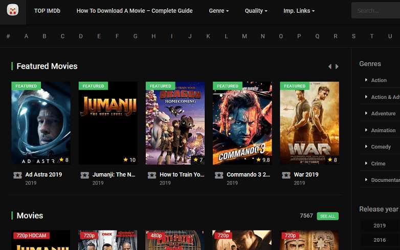 HD Popcorn website
