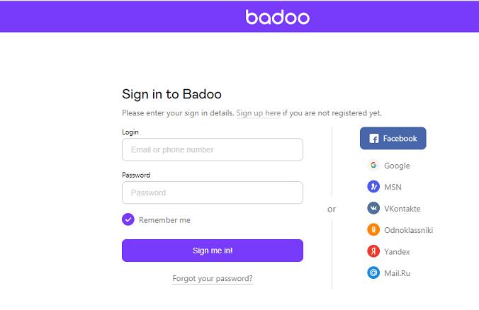 Badoo website