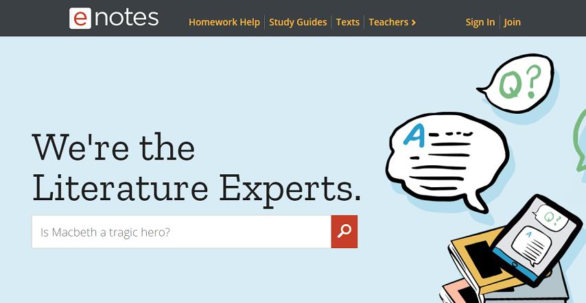 Enotes website
