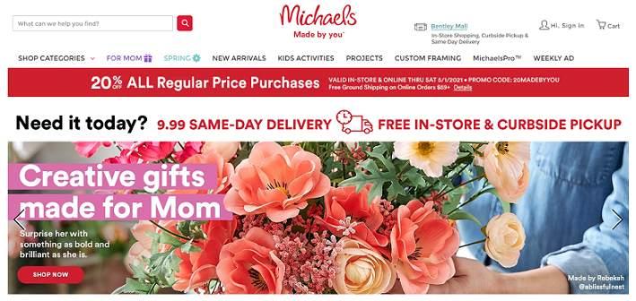 Michaels website
