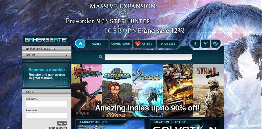 Gamers Gate website