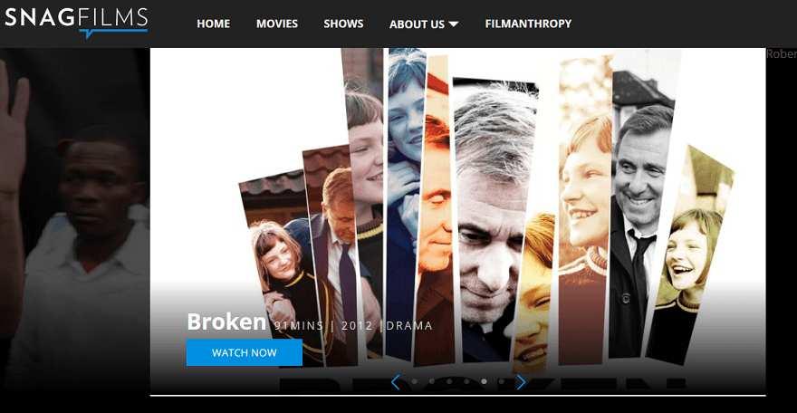SnagFilms website