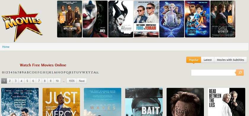 Los Movies website