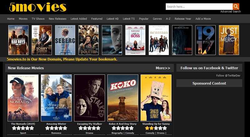 5Movies website