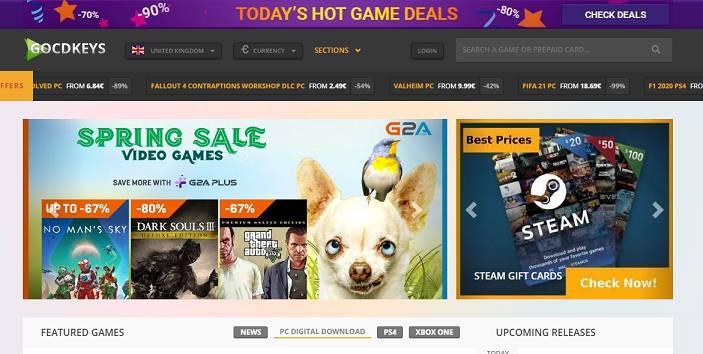 Gocdkeys website like G2A
