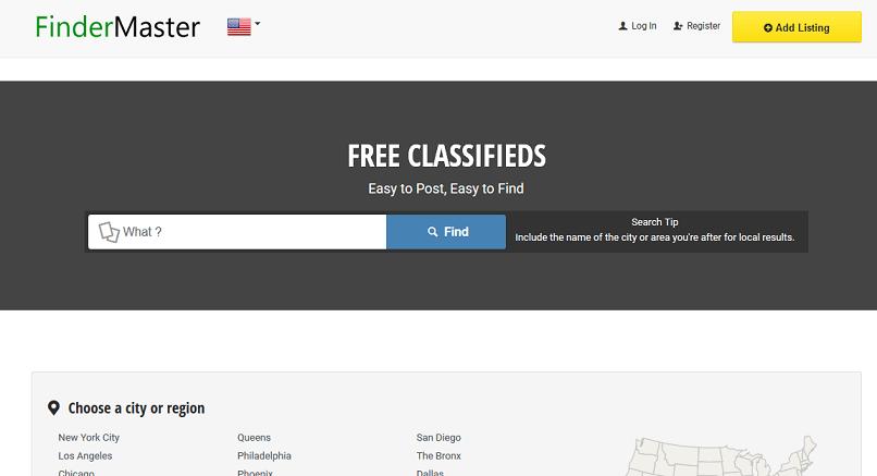 FinderMaster website