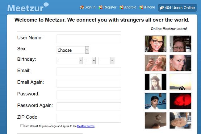 Meetzur website
