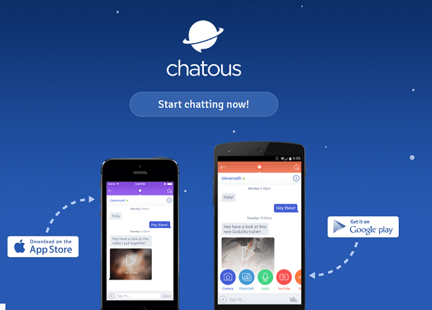Chatous website