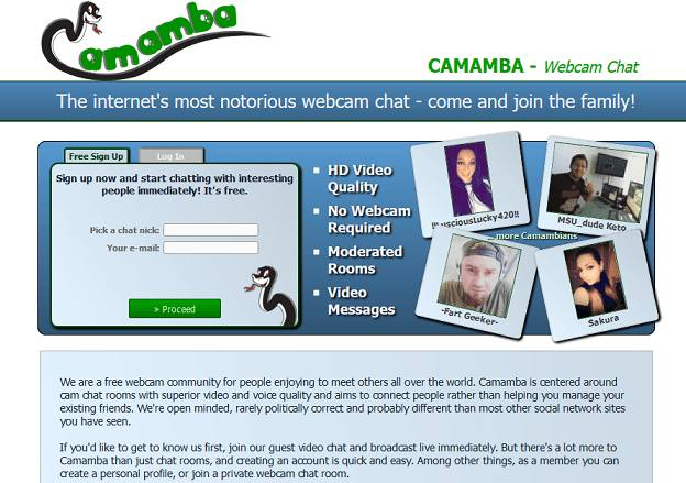 Camamba website