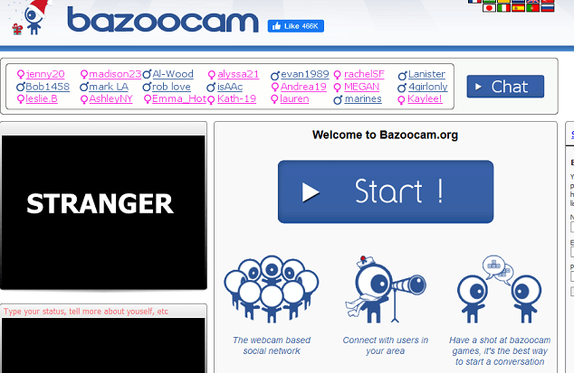 Bazoocam website