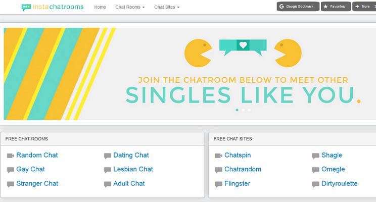 InstaChatRooms website