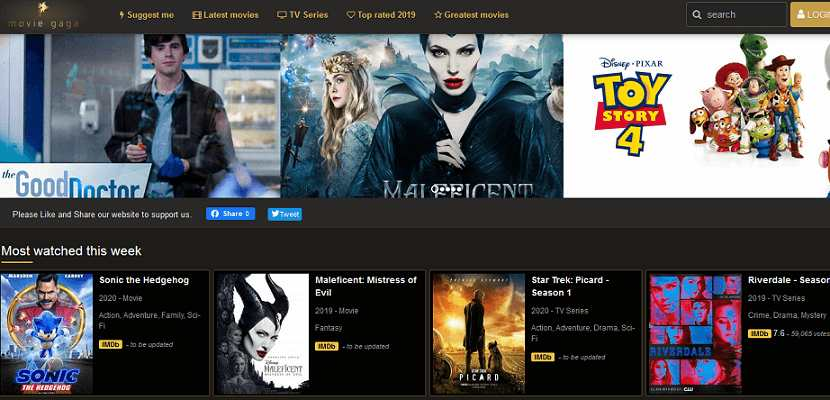 MovieGaga website