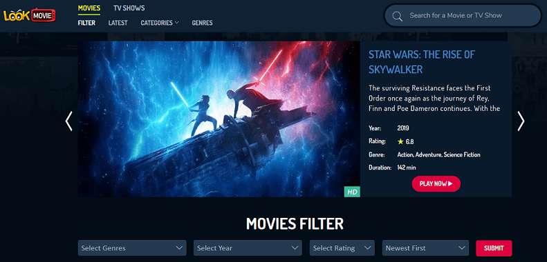 LookMovie website