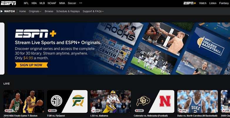 ESPN website