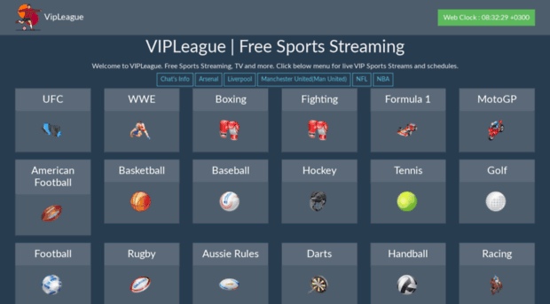 VIP League website