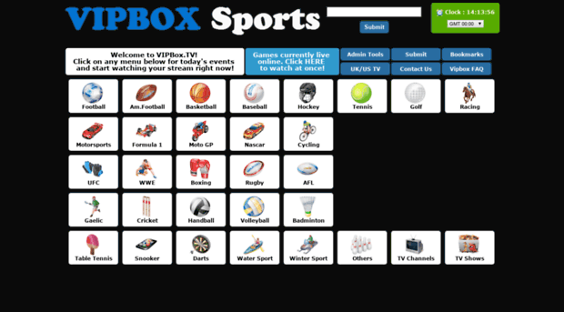 VIPBox TV website
